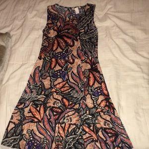 H&M patterned sleeveless skater dress